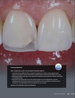 Journal of Cosmetic Dentistry Free Featured Article