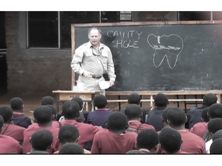 Teaching the children of Karatu about cavities and gum disease.