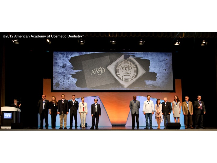 Accredited Members were recognized on-stage during the General Session.