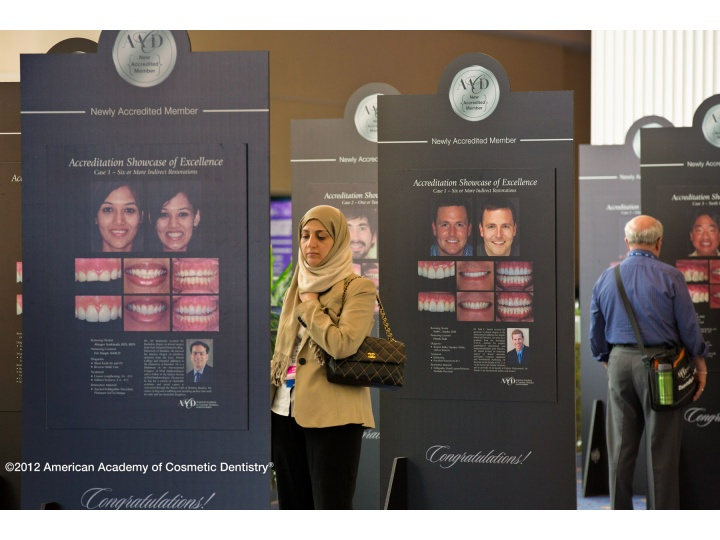 Attendees viewing the Showcase of Excellence which features cases from this year's Newly Accredited Members.