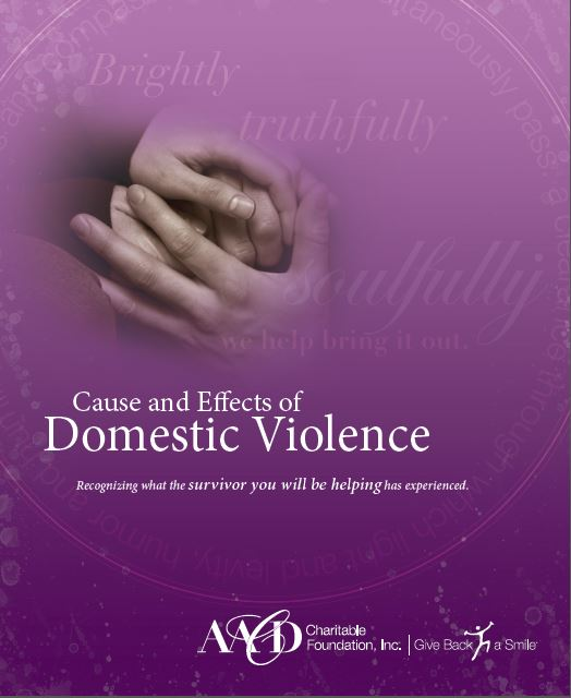 Cause and Effects of Domestic Violence Brochure